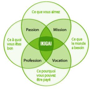 Schéma concernant l'ikigai